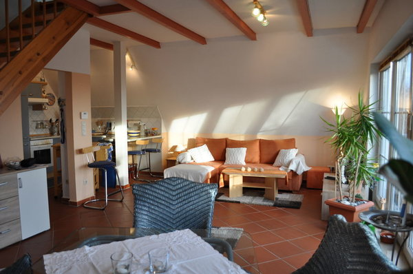 Das Erdgeschoss mit Wohnzimmer, Essecke und Küche