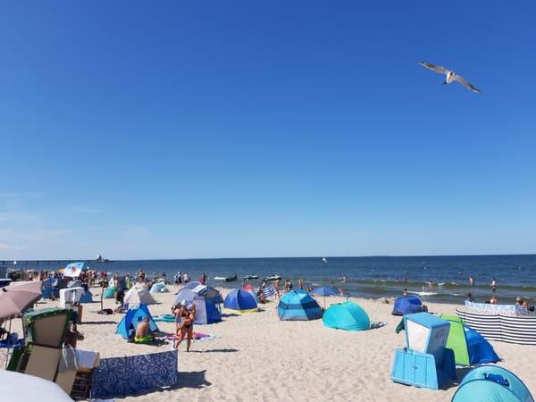 Am sommerlichen Strand