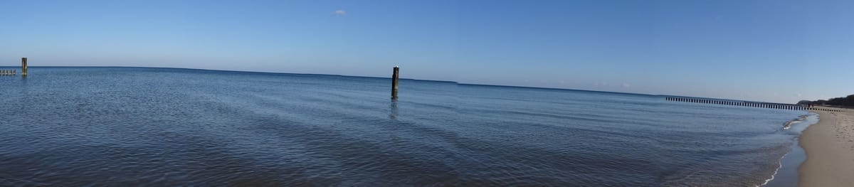Die endlose Weite des Ostseestrandes!