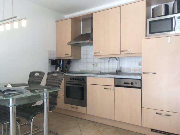 Die Küche  -  voll ausgestattet