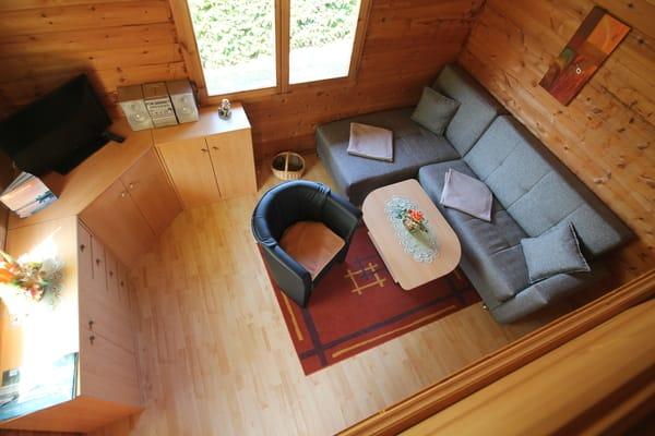 Wohnbereich ( Sicht vom Schlafboden )
