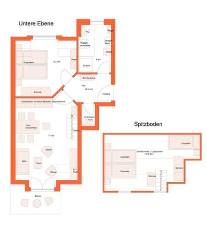 Grundrisse  Ebene 1 / Spitzboden