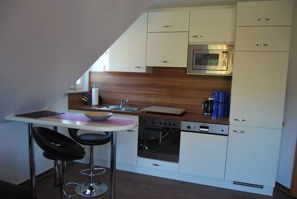Küchenbereich mit Sitzecke