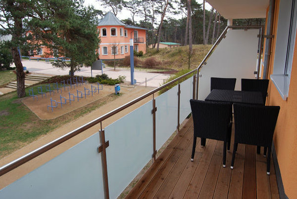 Blick vom Balkon in Richtung Strand und Ostsee