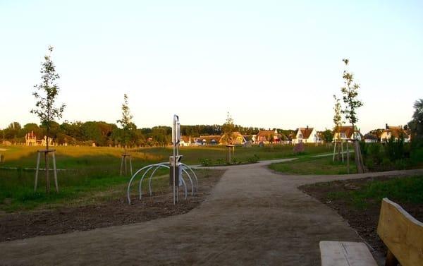 Kurpark Glowe mit Zugang zur Steilküste