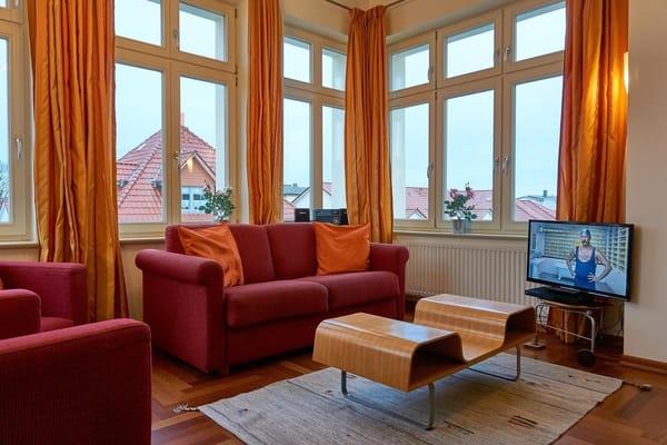 Erker im Wohnzimmer mit Blick zur Ostsee