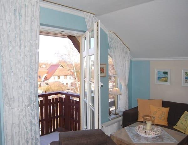 Balkone im Wohn- und Schlafbereich