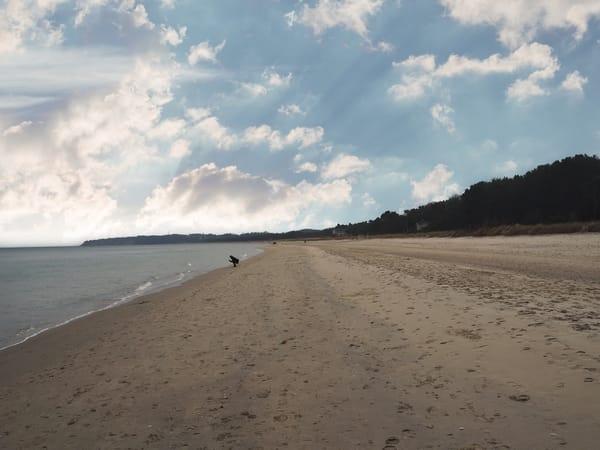 Auch in der Nebensaison ist unser Strand eine Wucht!