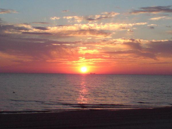 märchenhafter Sonnenaufgang gegen 5 Uhr