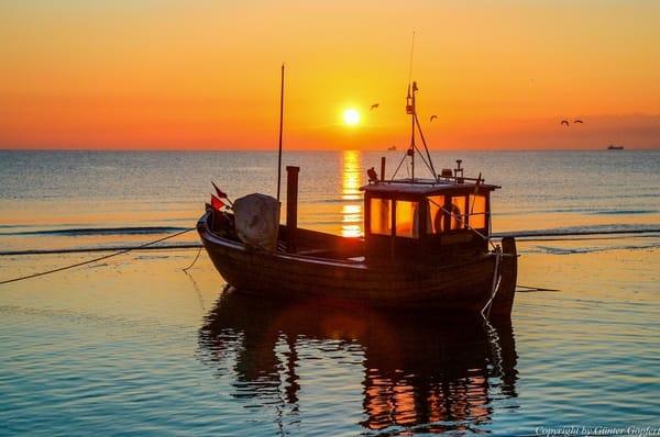 Sonnenaufgang hier am Strand von Ahlbeck