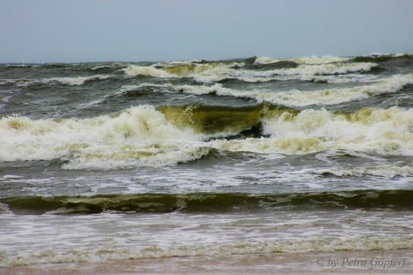 am Strand bei Sturm