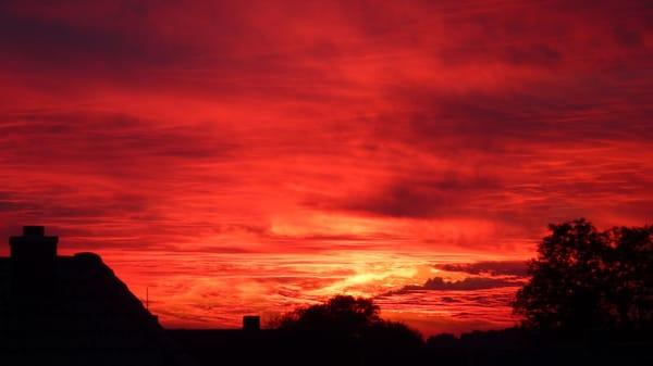 Sonnenuntergang vom Westbalkon