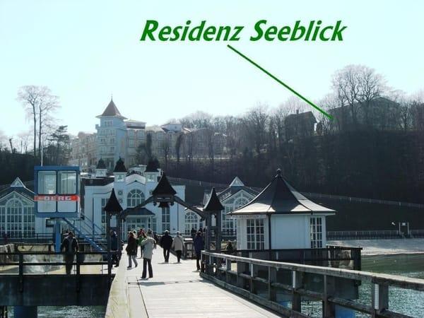 Residenz Seeblick von Seebrücke aus ca. 50m