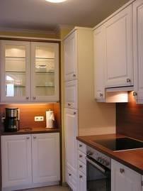 Die komplett eingerichtete Küche, in der sogar im Urlaub das Kochen Spass macht