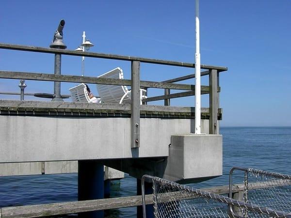 Schiffsanleger auf der Bansiner Seebrücke