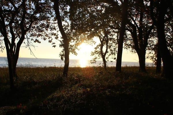 Sonnenaufgang am Hauptstrand