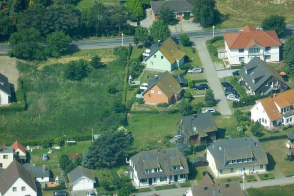 Luftaufnahme der Ferienhäuser