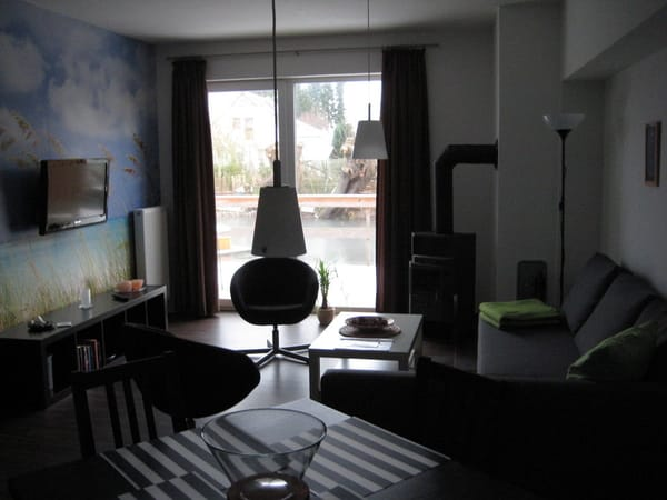 Fewo Kimberly Wohnzimmer mit Blick zum Fernseher