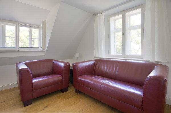 Die Sofaecke im Obergeschoss...