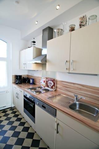 Eine vollausgestattete Küche inkl. Spülmaschine
