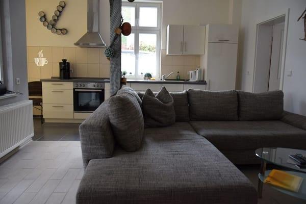 gemütliche große Couch ausziehbar