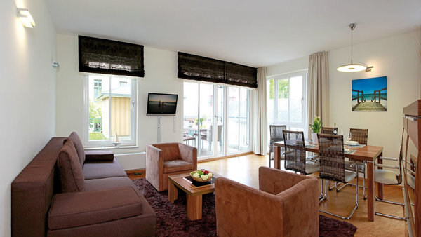 Bis 6 personen 70 qm wohn koch u essbereich m schlafcouch1 sz m doppelbett u flat tv 2 sz mit einzelbett z ausziehen 2pers küchenzeile wc