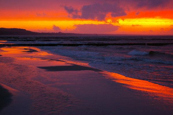 Sonnenuntergang in Zempin