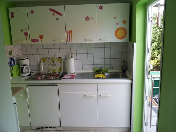 Küche mit Eingang