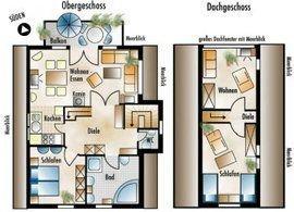 Grundrisse Ober- und Dachgeschoss