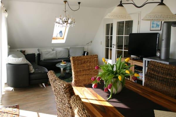Wohn - Essbereich mit Kaminofen