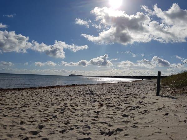 Lobber Strand, Blick nach Thiessow