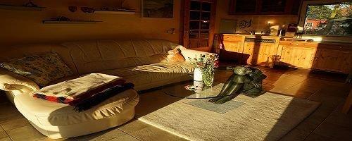 """Wohnzimmer im Ferienhaus """"Marina"""""""