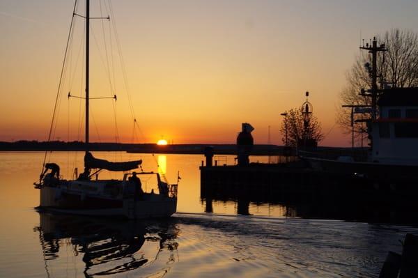 Sonnenuntergang im Hafen Karlshagen