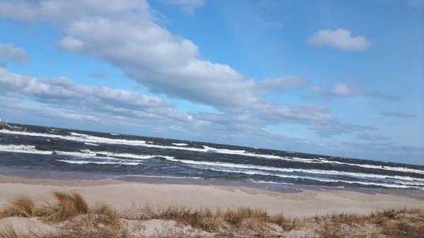 Die Ostsee bei starkem Sturm