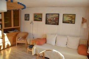 Wohnraum mit Doppelschlafcouch