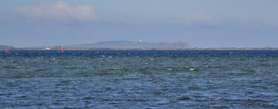 Blick aus der Wohnung zur Insel Hiddensee