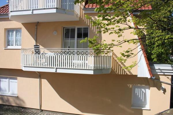 Blick zum Balkon - Rückseite Richtung Klosterstr.