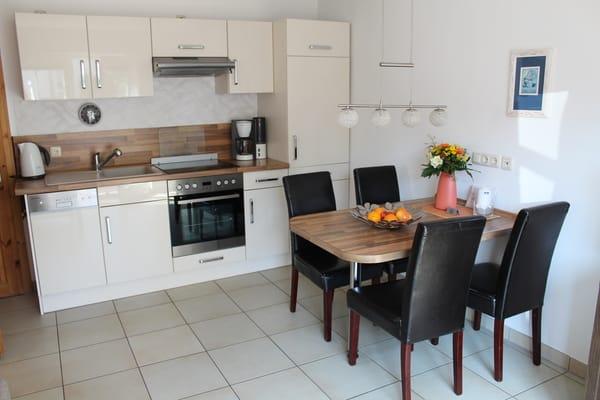 Moderner Wohnbereich mit Eínbauküche,Ceranfeld, Backofen und Geschirrspüler
