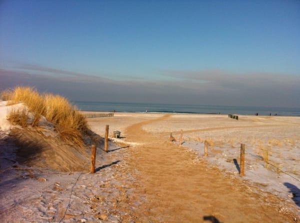 Strand im November -5 Min Fußweg von der Wohnung entfernt