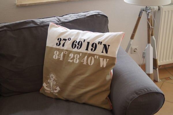 Liebevolle maritime Dekoration in der Wohnung
