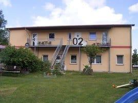 Lage der Wohnung - 1. OG an der Rückseite des Gebäudes