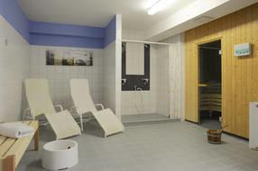 Sauna mit Ruheräumen in der Ferienanlage