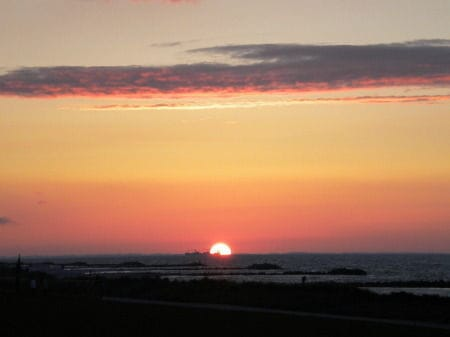 Romantische Sonnenuntergänge genießen