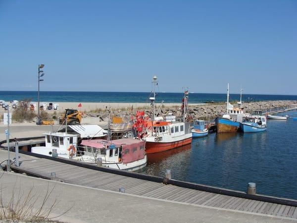 Die Fischerboote im Kühlungsborner Hafen