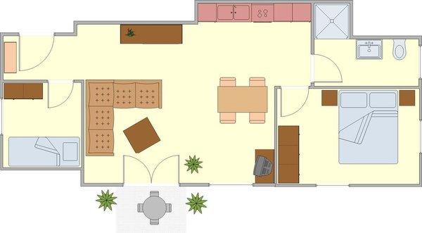 Grundriss Erdgeschosswohnung
