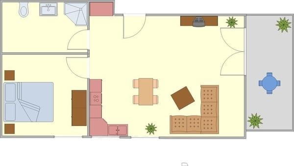 Grundriss Dachgeschosswohnung