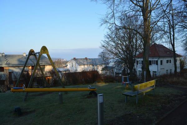 Blick über die Dächer von Heringsdorf auf die Ostsee