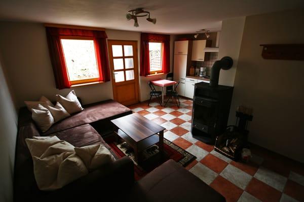 untere Etage Wohn- und Küchenbereich