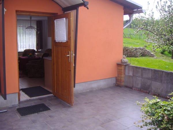 Eingang / Terasse Ferienhaus