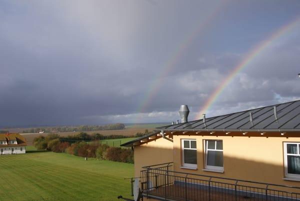 ein Regenbogen, aus der Whg 306 betrachtet
